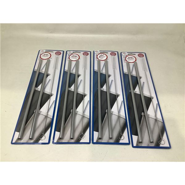 NEW HIC Tumbler Drinking Straws With Cleaning Brush Lot Of 4