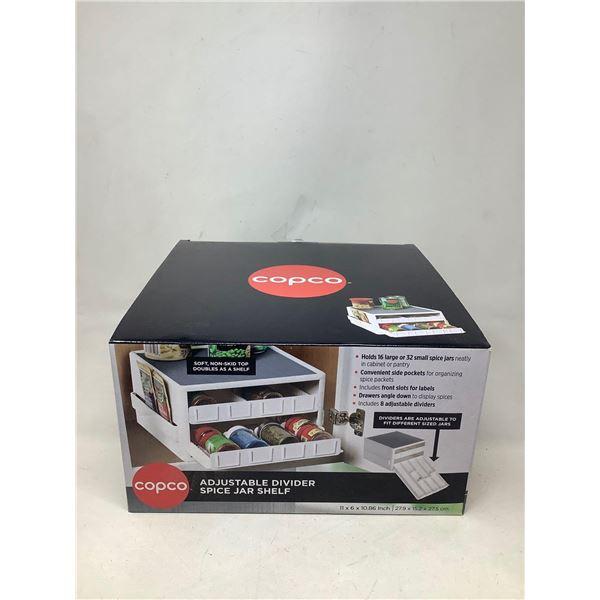 Copco Adjustable Divider Spice Jar Shelf