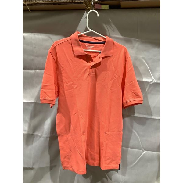 Mens orange shirt collared XS