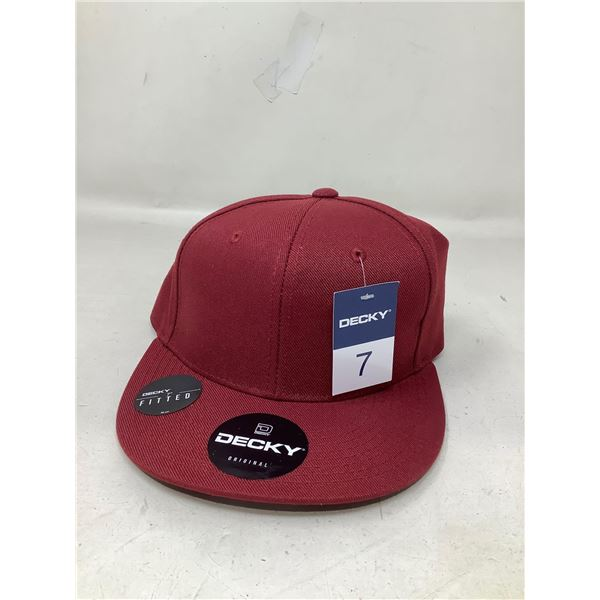 Decky original 7 inch fitted brimmed hat red NEW