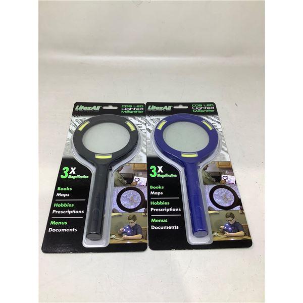 LitezAll COB LED Lighted Magnifier Lot Of 2