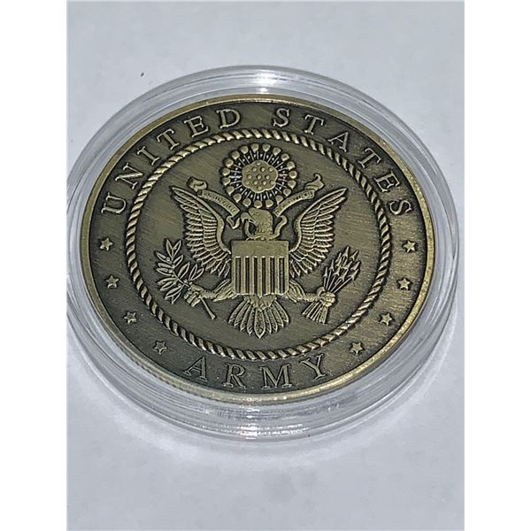 United States Army Helmet of Salvation Armour of God Cased Collector Coin