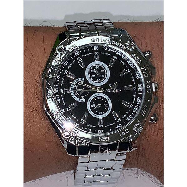 NEW Gents Quartz Orando Divers Style Dress Wrist Watch