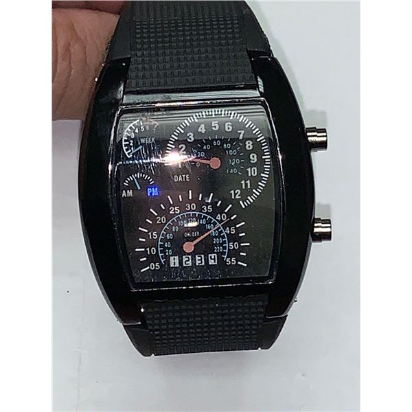 NEW LED Rubber Strap Sports watch