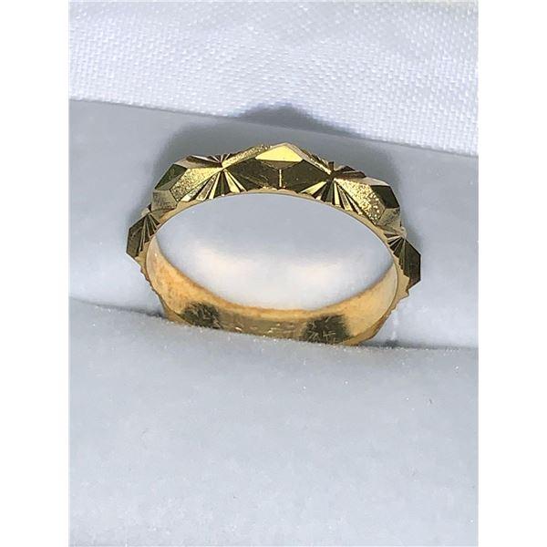Ladies 14K GP cut engagement ring ladies size 8