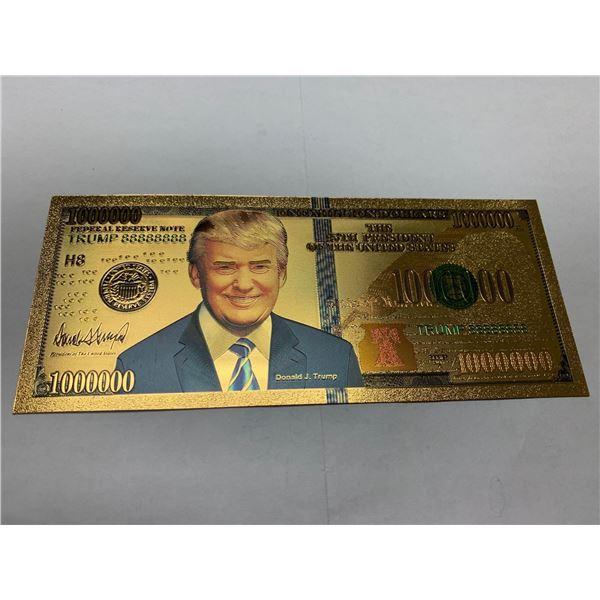 President Trump USA Gold Seal Certificate commemorative gold foil issued 1 million dollar bill