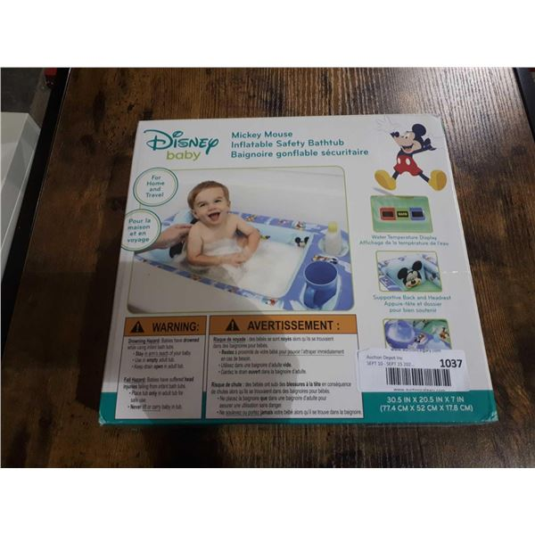 Mickey Mouse Inflatable Safety Bathtub (30.5in x 20.5in x 7in)