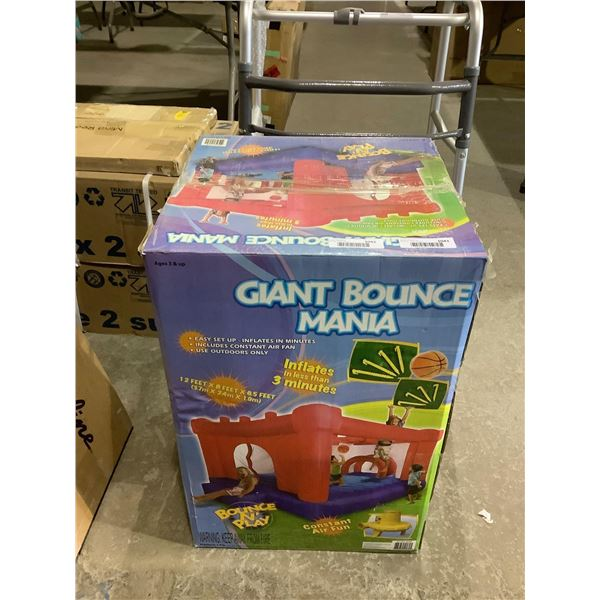 Giant Bounce Mania Inflatable Bounce House (12ft x 8ft x 6.5ft) (No Blower)