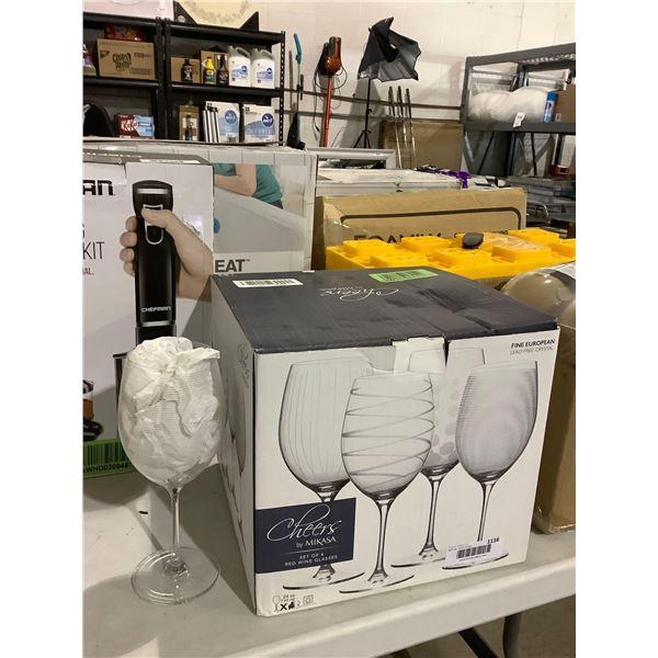 Mikasa Cheers Set of 3 24oz Red Wine Glasses