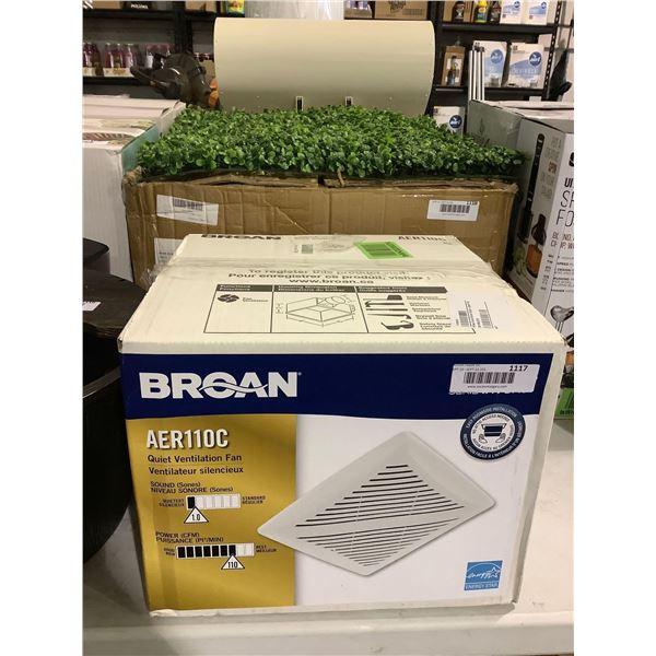 Broan Quiet Ventilation Fan - Model: AER110C