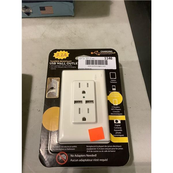 Charging Essentials USB Wall Outlet