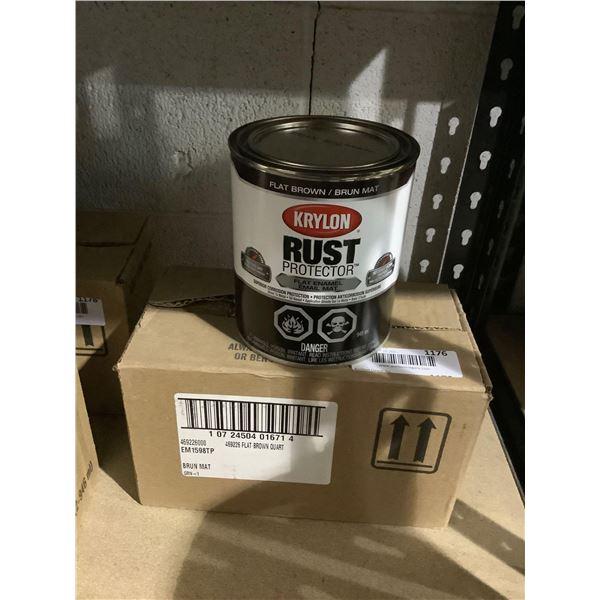Case of Krylon Rust Protector Flat Brown Enamel (2 x 946mL)