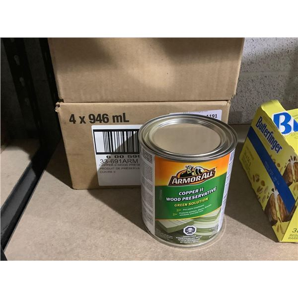 Case of ArmorAll Copper II Wood Preservative Green Solution (4 x 946mL)