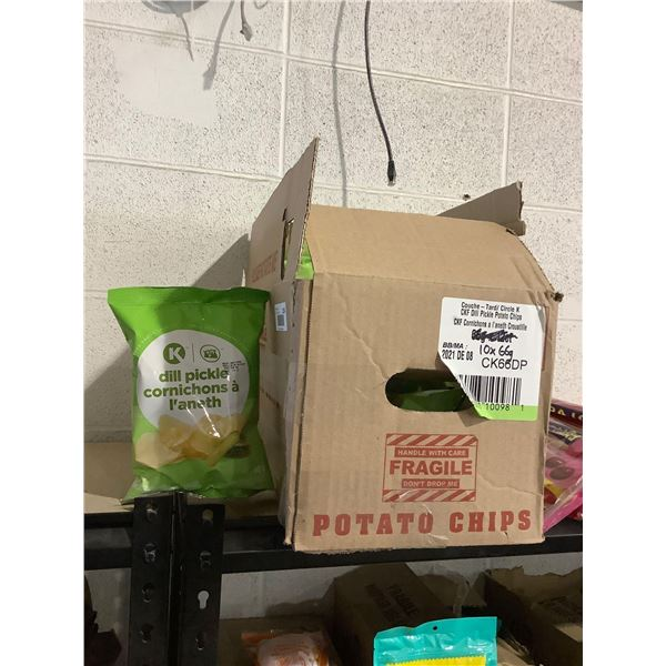 Case of Circle K Dill Pickle Potato Chips (10 x 66g)