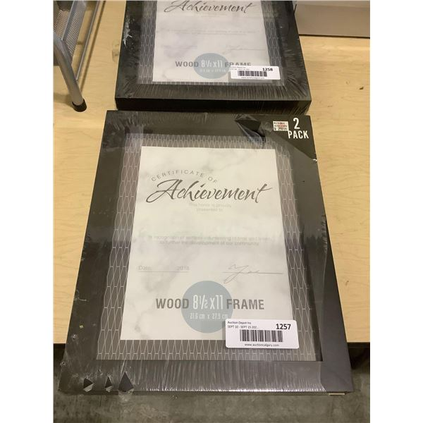 Wooden Certificate Frame 2-Pack (8 1/2in x 11in)