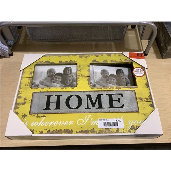 Home Double Picture Frame (15.25in x 1.5in x 10.25in)