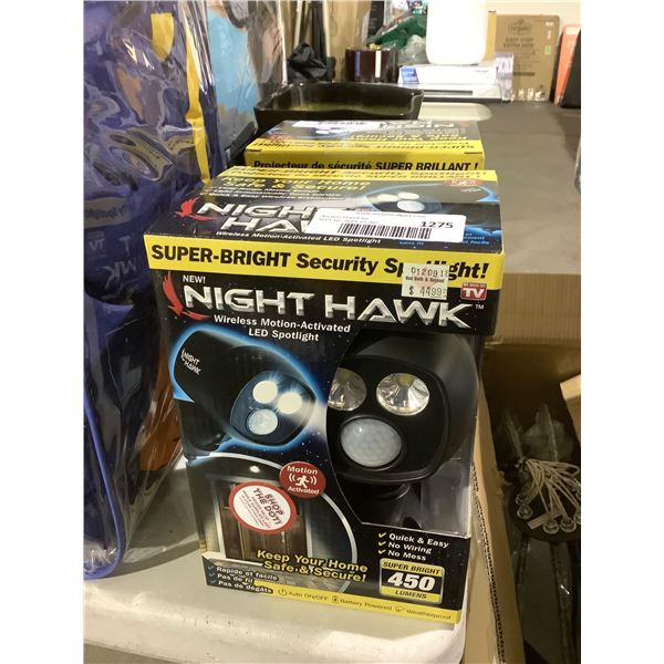 Night Hawk Wireless Motion-Activated LED Spotlight