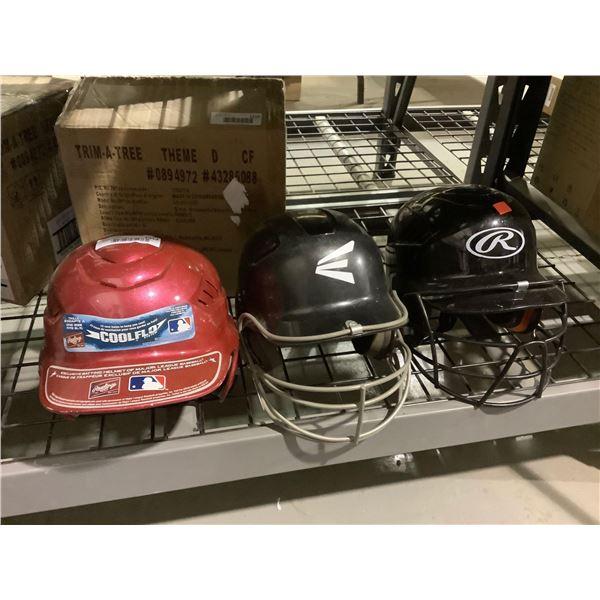 Lot of 3 Sports Helmets