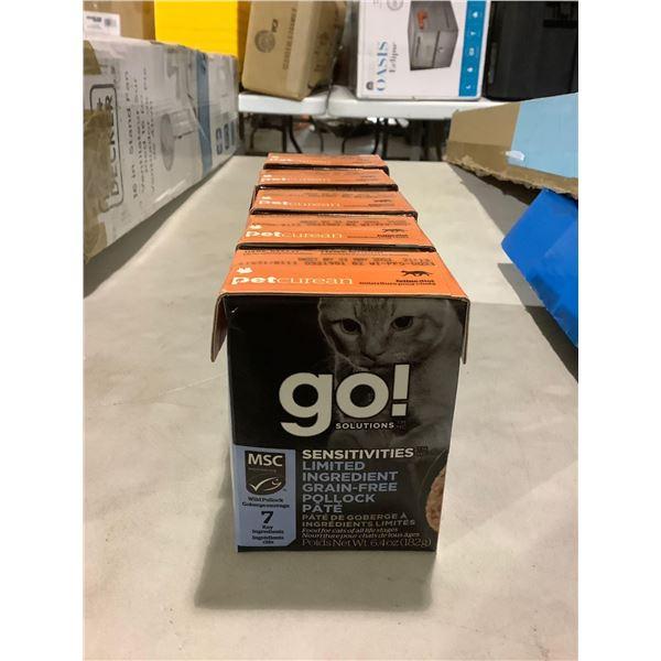Petcurean Go Solutions Sensitivities Grain-Free Pollock Pate Cat Food (5 x 185g)