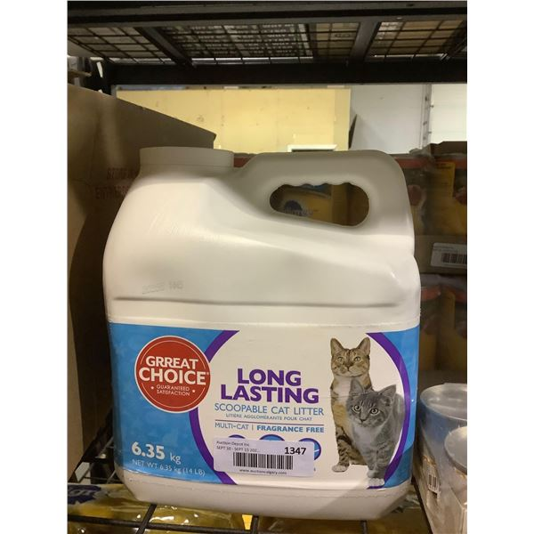 Great Choice Long Lasting Scoopable Cat Litter (6.35kg)
