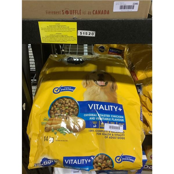 Pedigree Vitality Plus Roasted Chicken and Vegetable Flavor Adult Dog Food (14kg)