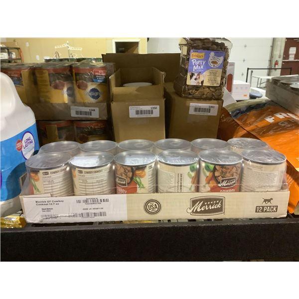 Merrick Grain-Free Cowboy Cookout Wet Dog Food (12 x 360g)