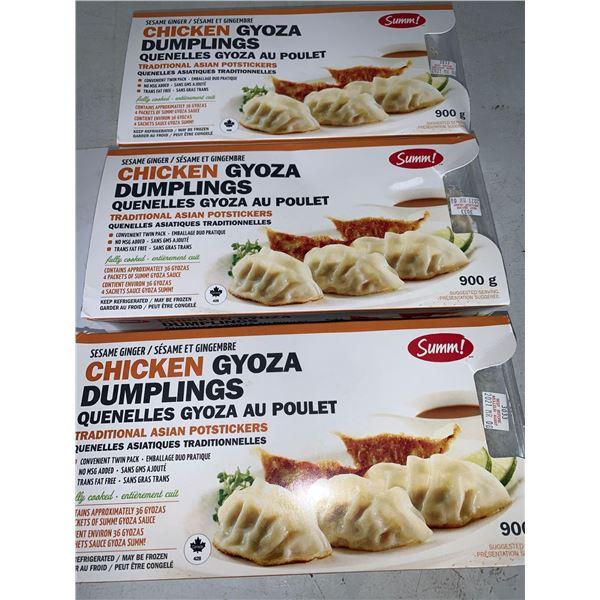 Frozen Summ Sesame Ginger Chicken Gyoza Dumplings (3 x 900g)