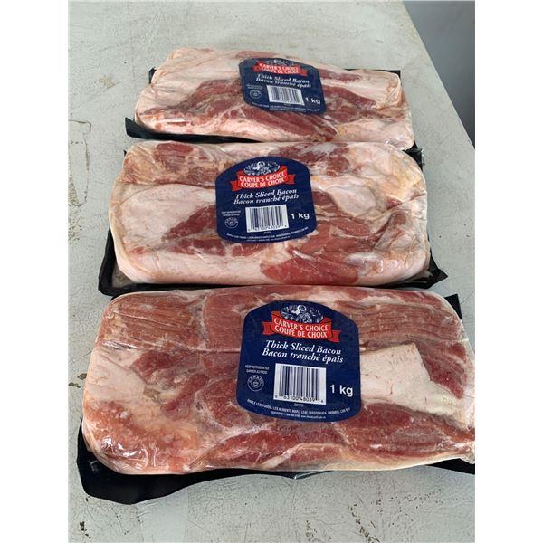 Carver's Choice Thick Sliced Bacon (3 x 1kg)