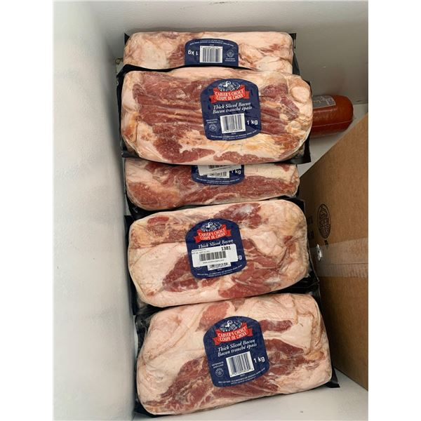 Frozen Carver's Choice Thick Sliced Bacon (5 x 1kg)