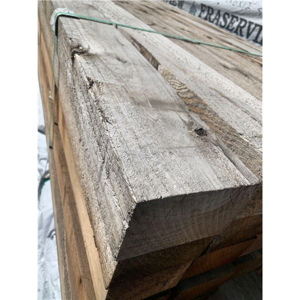 CEDAR POST - Rough Standard slight weathered - LOT OF ONE- 4 in x 6 in x 12ft