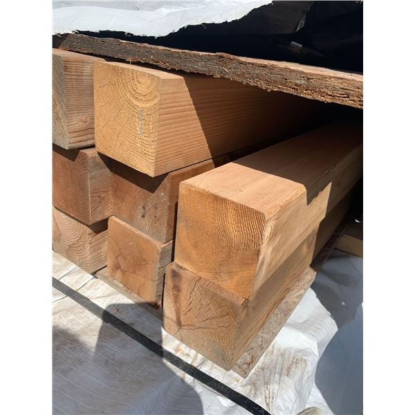 CEDAR POST - Appearance slight weathered - LOT OF ONE- 4 in x 4 in x 8ft