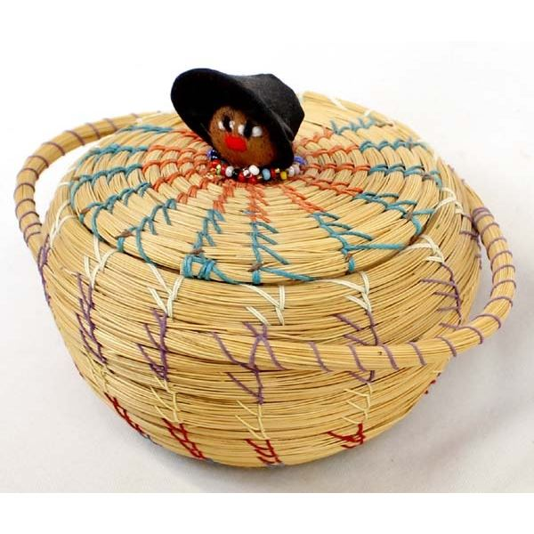 1997 Collier Seminole Doll Lidded Basket
