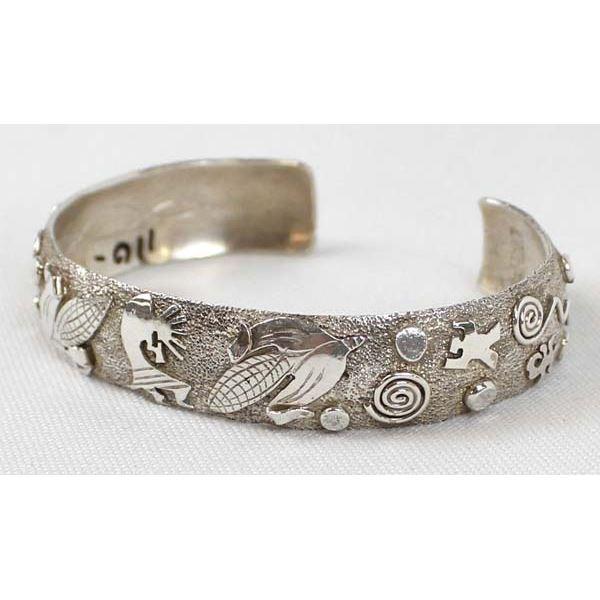 Navajo Sterling Cuff Bracelet by Scott Skeets