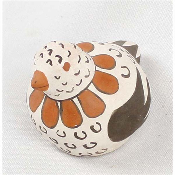 Miniature Acoma Pottery Bird by Ethel Shields