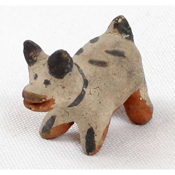 Vintage Native American Cochiti Pottery Dog