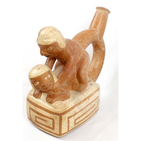 Moche' Culture Erotica Stirrup Pottery Replica