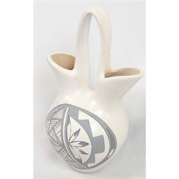 Isleta Pueblo Pottery Wedding Vase by S. Teller