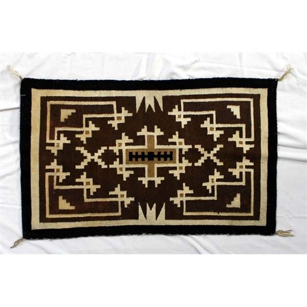 Navajo Two Gray Hills Textile Rug