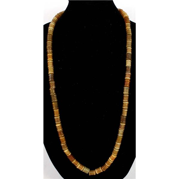 Antique Textured Barrel Trade Bead Necklace