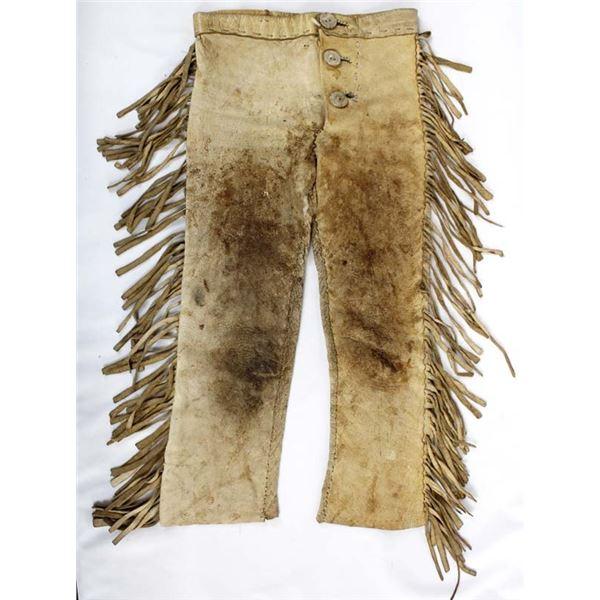 Vintage Child's Doeskin Fringed Pants