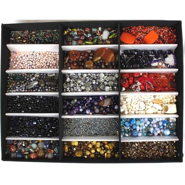 Large Collection of Beads in Display Box