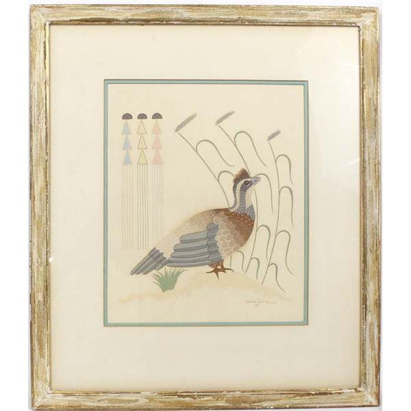 1951 Navajo Lithograph Print by Gerald Nailor Sr.