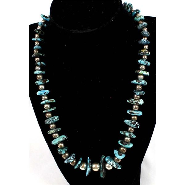 Sterling & Magnesite Nugget Necklace by McLellan