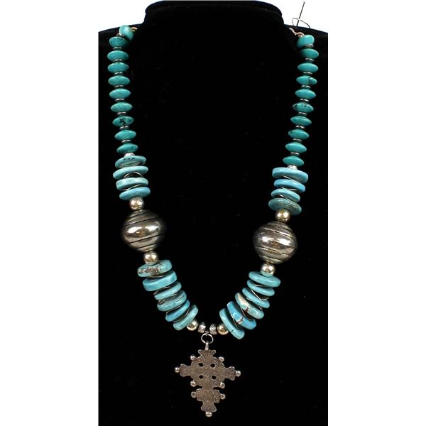 Ethiopian Cross Pendant Necklace by L. McLellan