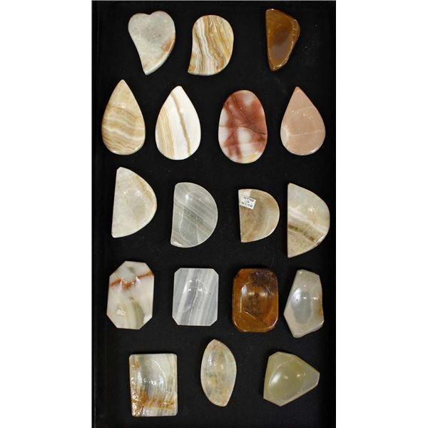 18 Carved Onyx Worry Stones