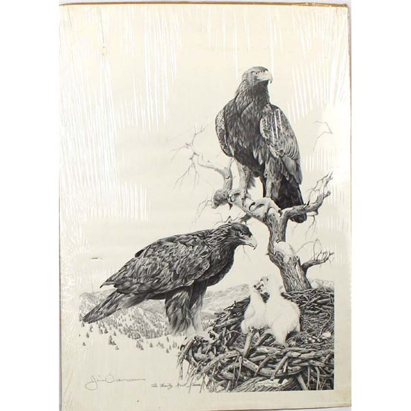 Hand Signed Eagle Print by Jim Branscum