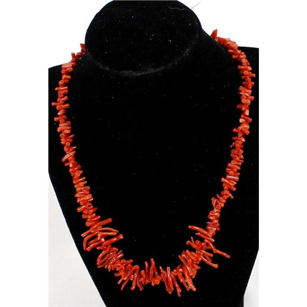 Genuine Red Branch Coral Necklace