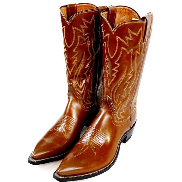 Justin Hand Lasted Leather Boots, Size 8.5 B