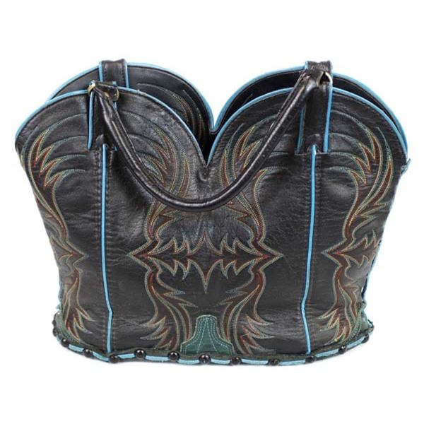 New Leather Cowboy Boot Uppers Tote Bag