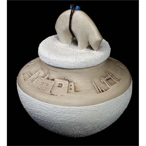 Zuni Pottery Jar by Vernon & Desiree Calavaza